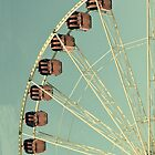 Vintage Ferris Wheel Retro iPhone iPod Case by wlartdesigns