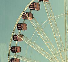 Vintage Ferris Wheel Retro iPhone iPod Case by wlartdesigns