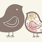 Sweet Pink Damask Chicks by fatfatin