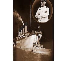 ☝ ☞ EJ SMITH CAPTAIN OF THE TITANIC & TITANIC -IPHONE CASE-Titanic leaving Belfast with two guiding tugs ☝ ☞ by ✿✿ Bonita ✿✿ ђєℓℓσ