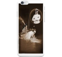 ☝ ☞ EJ SMITH CAPTAIN OF THE TITANIC & TITANIC -IPHONE CASE-Titanic leaving Belfast with two guiding tugs ☝ ☞ iPhone Case/Skin