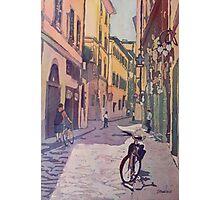 Waiting Bike Photographic Print