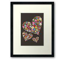 Spring Flowers Valentine Hearts Trio Framed Print