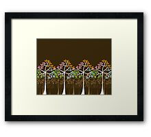Four Seasons Trees Framed Print