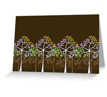 Four Seasons Trees Greeting Card