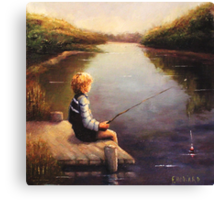 Lil Boy Fishing1 Canvas Print