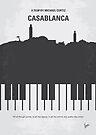 No192 My Casablanca minimal movie poster by Chungkong
