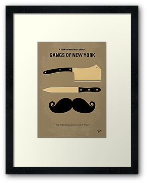 No195 My Gangs of New York minimal movie poster by Chungkong