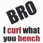 I Curl What You Bench 001 by Wonder Arts