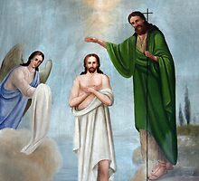 The Baptism Painting by muniralawi