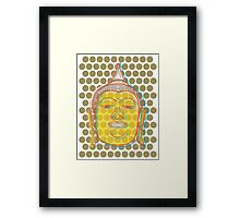Buddha's Smile Oriental Zen Pop Art Framed Print