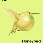 Hh - Honeybird // Half Hummingbird, Half Honeydew Melon by bkkbros