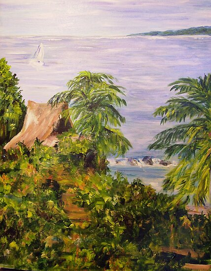 By Tenacatita Bay by Lynda Earley