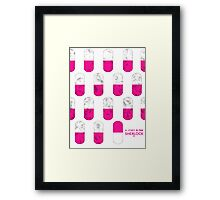 Sherlock Minimalist poster-style Shirts and Art-A Study in Pink, S1E1 Framed Print