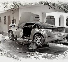 Fixin' Da Car in Fox Hill Village - Nassau, The Bahamas by 242Digital