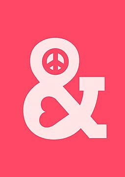 Peace and love - pink by Budi Satria Kwan