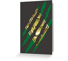 Secret Identity - Green Ranger Greeting Card