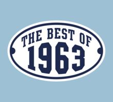 THE BEST OF 1963 2C Birthday Navy/White T-Shirt by MILK-Lover