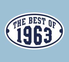THE BEST OF 1963 2C Birthday Navy/White T-Shirt by MILK-Lover