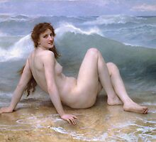 William-Adolphe Bouguereau - The Wave by TilenHrovatic