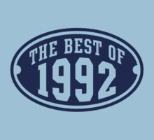 THE BEST OF 1992 Birthday T-Shirt Navy by MILK-Lover