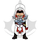 Assassin's Creed Brotherhood: Ezio Chibi by SushiKitteh's Creations