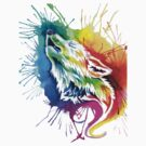 Wolf Color Painting by tshirtmaker22