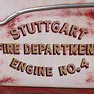 Vintage Fire Truck Door by WildestArt