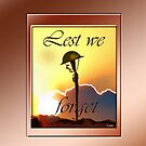 LEST WE FORGET iPAD CASE by Jon de Graaff