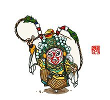 Chinese Opera Character - Sun Wukong by NicePaintings