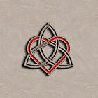 Celtic Knot Valentine Heart White Leather by Brian Carson