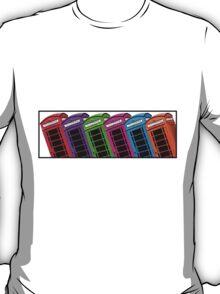 Red British Phone box 4 up T-Shirt
