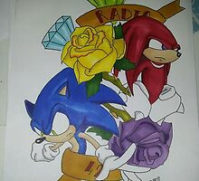 sonic n knuckles tattoo style by radio42