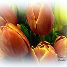 Tulips in a Citrus Bouquet by Elaine Bawden