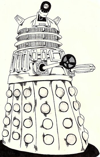 Dalek by Monochrome-Bib