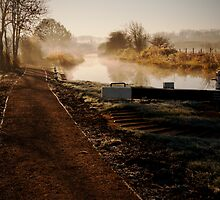 Mist over the canal by Ralph Goldsmith