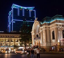 Vietnam. Ho Chi Minh City (Saigon). Opera House at Night. by vadim19
