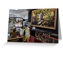 Vietnam. Ho Chi Minh City (Saigon). Silk Embroidery shop at the airport. Greeting Card