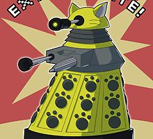 Yellow Kitty Dalek by NeroStreet