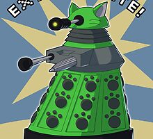 Green Kitty Dalek by NeroStreet