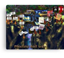 Meeting psychiatry half way Canvas Print