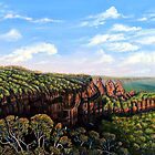 Towards Echo Point - Blue Mountains by  Linda Callaghan