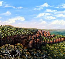 Towards Echo Point, Blue Mtns Australia by © Linda Callaghan