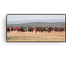 Masai Cattle market Canvas Print
