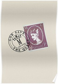 Madonna - God Save The Queen - Retro Stamp & Frank Design by Ged J
