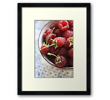 Full of Red Framed Print