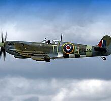 Supermarine Spitfire Mk IX PL344/T-LB G-IXCC by Andrew Harker