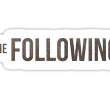 The Following Sticker