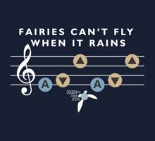 Fairies Can't Fly When It Rains - Song of Storms Parody Shirt by RetroReview