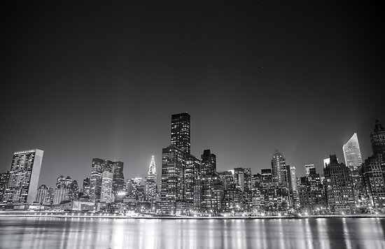 New York City Skyline - Night by Vivienne Gucwa